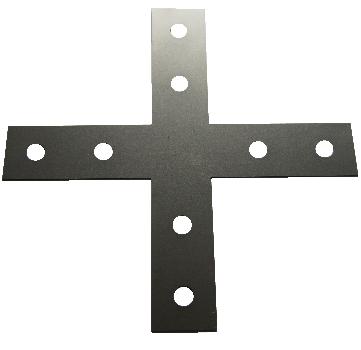 Montage sjablone maatvoering harde ondergrond (beton of asvalt)