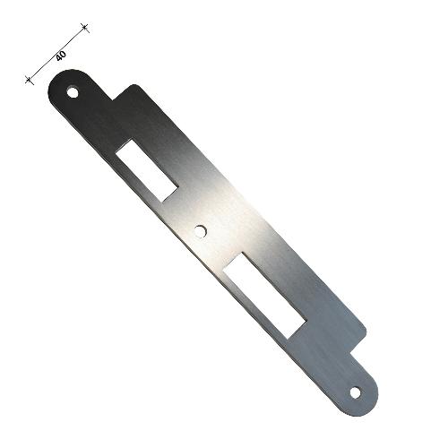 Alternatief voor Assa Abloy EA322 sluitplaat renovatie sluitplaat 2 mm met lange lip