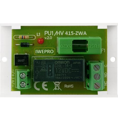 Enkel relay module op houder  NC/COM/NO