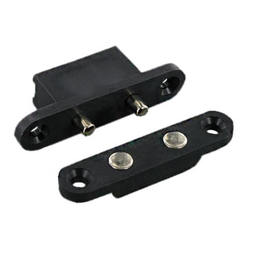 FM1602 - vingercontact - 2 pins - stroomdoorvoer - zwart